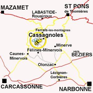 Topo accès La maison de l'abeille de Cassagnoles